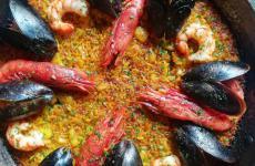 La paella valenciana diAlbufera, ristorante invia Luigi Settembrini 26,Milano