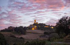 Un'immagine suggestiva del Castello di Cigognola