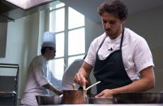 Rodolfo Guzman, chef at restaurant Boragò in Santiago del Chile, who was at Alma, in Colorno (Parma) last month