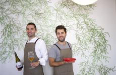 Gabriele e Riccardo Escalante,maitre e chef diFloraaBusto Arsizio (Varese)