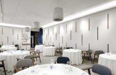 La nuova sala de Il Luogo di Aimo Nadia di Milano, ristorante che quest'anno festeggia i 57 anni. (foto di Paolo Terzi)