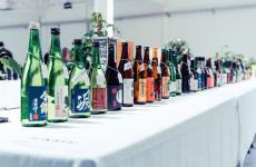 Alcuni esemplari di sake giudicatialMilano Sake Challenge, evento tenutosi nei giorni scorsi al Tenoha di Milano