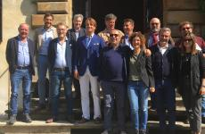 Foto di gruppo dei produttori del WineLab delValtellina Wine Festival, evento tenutosi il 20 e 21 settembre scorsia Chiavenna (Sondrio) e dintorni