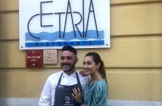 Salvatore Avallone e Federica Gatto, compagni nella vita, chef e maitre del ristorante Cetaria di Baronissi (Salerno)