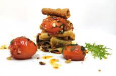 Accusì s'fa, primo piatto vegetariano di Fabrizio Marino, chef del ristorante Maggese a San Miniato (Pisa)