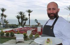 Manuel Marchetta, 38 anni, chef del ristorante Mimosa, contenuto nell'hotel Miramare The Palace di Sanremo