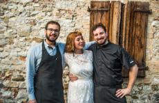 Marco Chiarotto, Chiara Nemaz (detta Kiara) eStefano Arbandi1883 Restaurant & Rooms di Cervignano del Friuli (Udine)