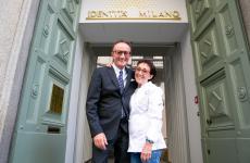 MauroGualandris e Marta Grassi, maitre e chef del ristorante Tantris di Novara, in trasferta a Identità Golose Milano per 4 cene, fino a sabato 3 agosto. Prenotazioni online(foto Onstage Studio)