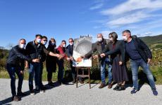 I membri dell'Associazione Produttori Ribolla di Oslavia, compagine che mette assiemeDario Princic, Fiegl, Gravner, Il Carpino, La Castellada, PrimosiceRadikon