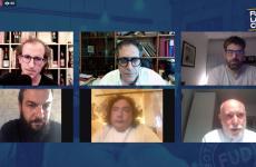 I protagonisti dello speciale onlineModica Ediscion, organizzato da Andrea Graziano diFUD Bottega Sicula. Da in alto a sinistra, in senso orario, dopo lo stessoGraziano, Pierpaolo Ruta, Accursio Craparo, Peppe Barone, Luca Stracquadanio e Lorenzo Ruta