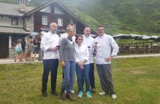 I cuochi protagonisti diBut Gourmet, evento che ha animato nei giorni scorsi Riale, nel Verbano-Cusio-Ossola