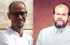 Nabil Hadj Hassen e Alessandro Roscioli, cuoco e patron di Rosciolia Roma. Cucineranno aIdentità Golose Milanoda mercoledì 24 a venerdì 26 giugno(75 euro a persona, vini inclusi). Per prenotare,clicca qui.