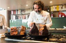 Marco Stabile, chef dell'Ora d'Aria di Firenze, alla Scuola di Eataly Los Angeles (foto Brambilla/Serrani)