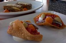 Tacos e parmigiana, uno dei piatti in carta aLa Fescina,corso Italia261,Quarto (Napoli)