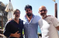 Giorgio Scarselli, Antonino Cannavacciuolo e Franco Pepe insieme al Bikini