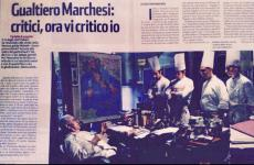 A clipping from weekly magazine Panorama, published after the famous episode in 2008 when Gualtiero Marchesi, then at Albereta in Erbusco (Brescia), refused his 3 Michelin stars. Second from the right, Simone Cantafio, from Milan, now chef and director in Toya, at the restaurant Michel and Sebastien Bras opened in Japan - another family that recently refused 3 Michelin stars