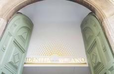 L'ingresso di Identità Golose Milano, in via Romagnosi al 3