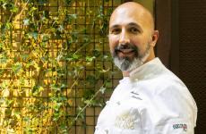 Andrea Ribaldone, coordinatore delle cucine di Identità Golose Milano, con la sua giacca Goeldlin Chef