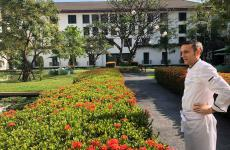 David Tamburini, born in Tuscany in 1973. After his recent Sicilian experience at Casa Grugno(Taormina) and La Gazza Ladra(Modica), one and a half year ago he took over gourmet restaurant La Scalaat the Sukhotai, a 5 star luxury hotel in Bangkok, Thailand