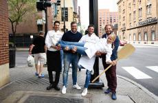 Sara Minnick(Lovely's Fifty Fiftya Portland) retta dal team Bioesserì (Milano e Palermo).Da sinistra a destra: Fabio La Barbera, Vittorio e Saverio Borgia,Federico Della Vecchia(foto Brambilla/Serrani)