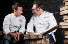 Paolo Lopriore e Gianluca Gorini, fotografati da Brambilla - Serrani al Congresso di Identità Golose 2019