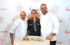 ChefsGiambattista Vinzoniand Alberico Nunziatawith our Francesca Zanetti
