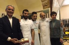Carlo Assenza, primo da sinistra, in una foto di qualche tempo fa. Con lui Francesco Assenza, Corrado Lucci, Corrado Assenza e Nives Mazza
