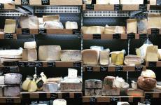 La straordinaria selezione di formaggi alla Salsamenteria di Cagliari (foto Domenico Sanna)