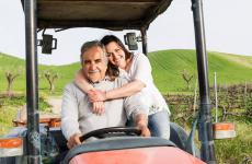 Roberto e Caterina Ceraudo, capofamiglia dell'azienda e cuoca del ristoranteDattilo a Strongoli (Crotone), una stella Michelin