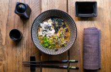 Uno dei piatti di Umami, trattoria giapponese con chef siciliano, a Roma