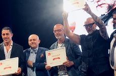 In Naples, on Tuesday 23rd July, the award giving event for the third edition of 50 Top Pizza ended with everyone on the stage, celebrating the victory of two people: Franco Pepe and Francesco Martucci