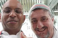 Wicky Priyan, chef di Wicky's a Milano e Pasquale Torrente, chef del Convento di Cetara (Salerno), insegna che quest'anno festeggia 50 anni