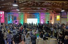 Colpo d'occhio suNOT - Rassegna dei Vini Franchi, evento che ha animato i cantieri culturali alla Zisa di Palermo dal 12 al 14 gennaio scorsi