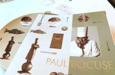 The menu at restaurant Paul Bocuse, North of Lyon