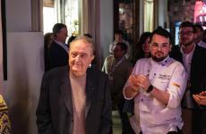 Il lunghissimo applauso che ha accolto Aimo Moroni a Foodexp, Lecce, mercoledì 17 aprile