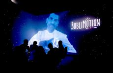Paco Roncero appears on the multimedia walls of Sublimotion, the restaurant in Ibiza inside the Hard Rock Hotel