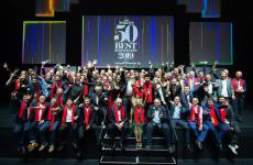 Group photo with the chefs in the The World's 50 Best Restaurants 2019, sponsored by S.Pellegrino & Acqua Panna