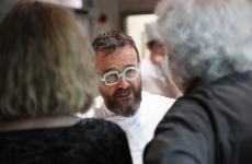 Giancarlo Morelli alla serataNutri la tua voglia di risoal Bulk di Milano