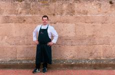 Salvatore Camedda, ottimo chef al suo Somu di Oristano, in pieno centro cittadino