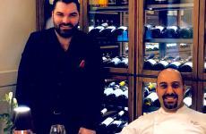 Alberto Tasinato e Davide Puleio, ossia patron e chef de L'Alchimia a Milano, che compie un anno
