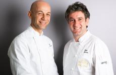 I protagonisti di un quattro mani davvero speciale a Identità Golose Milano: Riccardo Camanini, chef del Lido84 di Gardone Riviera (Brescia) e Josean Alija, chef del Nerua all'interno del Guggenheim Museum Bilbao