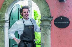 Stefano Baiocco, gran chef al Villa Feltrinelli di Gargano, sul lago di Garda bresciano. Prima stella nel2007, la seconda nel 2014