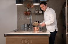 Alessandro Bellingeri,chef-patron dell'Osteria Acquarolad Appiano (Bolzano)