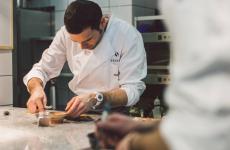 Chef Andrea Camastra, born in 1980 in Monopoli, Apulia, one Michelin star at restaurant Sensesin Warsaw