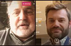 Enrico Bartolini e Paolo Marchi in diretta su Instagram. I prossimi ospiti dell'appuntamento delle 16 saranno: venerdì 27 marzoFederico Quaranta, sabatoFranco Pepe e domenica Alessandro Pipero