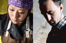 La giapponese Jun Giovannini e il brianzolo Samuele Lissoni, cuoca e bartender di Kanpai, insegna aperta nel gennaio 2018 in via Melzo 12 a Milano