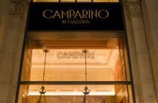 L'insegna del Camparino in Galleria, un'icona milanese da oltre cent'anni