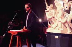 Massimo Bottura pronuncia la sua lectio magistralis a Carrara (immagine da Ig Papleccese3)