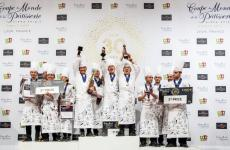 Il podio del trentennale dellaCoupe du Monde de la Pâtisserie