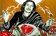 A detail of the cover of The Ten (Food) Commandments by Jay Rayner, restaurant critic and food-writer from London, a sarcastic journey through the obsessions of food modernity. The book (160 pages) was originally published by Penguin. The Italian edition was published by EDT. You can buy it online at a discount (11.48 euros instead of 13.50)